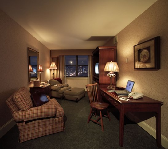 Hotel room office